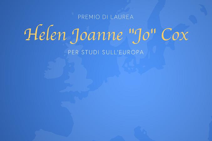 """Premio di Laurea """"Jo Cox"""" per Studi sull'Europa"""